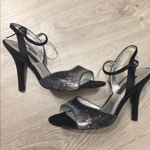 Nine black heels used once